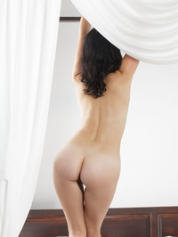 Raven Haired Beauty Malena Nude In Her Bed 03