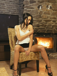 Sapphira Plays With Herself By The Fireplace 01
