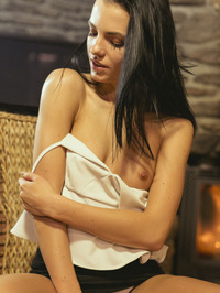 Sapphira Plays With Herself By The Fireplace 02