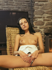 Sapphira Plays With Herself By The Fireplace 03