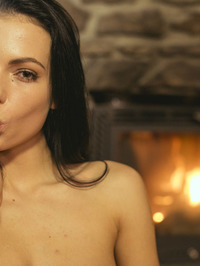 Sapphira Plays With Herself By The Fireplace 05