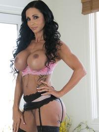 Big Boobed MILF Jewels Jade In Sexy Black Stockings 09