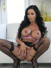 Big Boobed MILF Jewels Jade In Sexy Black Stockings 14
