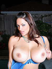 Monica Mendez Flashes Her Huge Jugs 02