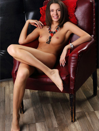 Brunette Girl Selena - Red Corset 09