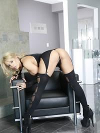 Luna Star In Sexy Black Lingerie 01