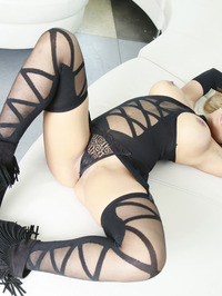 Luna Star In Sexy Black Lingerie 14