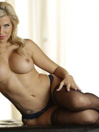 Busty Blonde MILF Savana Styles Strips Off Her Lingerie 06