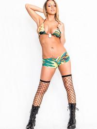 Nikki Sims In Camo Bikini 10