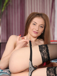 Roxy James Sexy In Black Lingerie 10