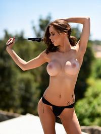Jennifer Ann In Black Bikini Posing Outdoor 04