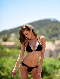 Jennifer Ann In Black Bikini Posing Outdoor 08