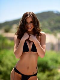 Jennifer Ann In Black Bikini Posing Outdoor 10
