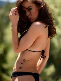 Jennifer Ann In Black Bikini Posing Outdoor 12