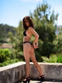 Jennifer Ann In Black Bikini Posing Outdoor 14