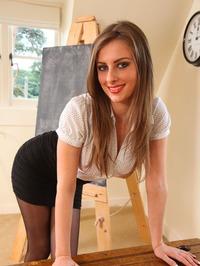 Danielle A In Short Skirt 03