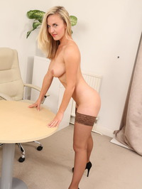Busty Secretary Chikita Strips In The Office 19