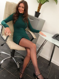 Sexy Secretary Tianna Strips In The Office 00
