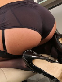 Sexy Secretary Tianna Strips In The Office 13