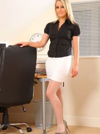 Hot Secretary Stripping In Her Office 00