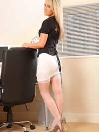 Hot Secretary Stripping In Her Office 01