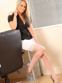 Hot Secretary Stripping In Her Office 03
