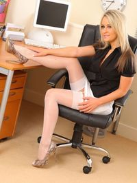 Hot Secretary Stripping In Her Office 05