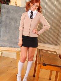 Elle Richie schoolgirl uniform 00