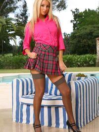 Stevie Pink Tartan Miniskirt 00