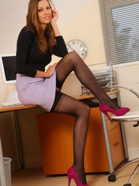 Eufrat Shows A Sexy Strip In Her Office 00