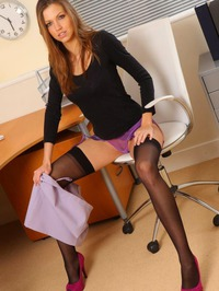 Eufrat Shows A Sexy Strip In Her Office 07