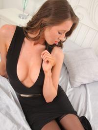 Jemma Louise Sexy Dress And Stockings 00
