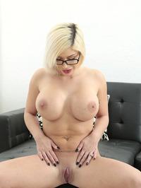 Sara St Clair Big Fake Boobed Blonde MILF Strips 16
