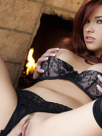 Sabrina Maree Naked In Fireplace 06