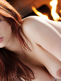 Sabrina Maree Naked In Fireplace 14