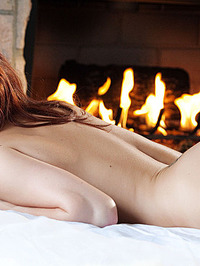 Sabrina Maree Naked In Fireplace 16