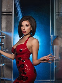 Darcie Dolce In Sexy Latex Dress 00