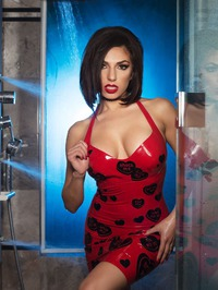Darcie Dolce In Sexy Latex Dress 05