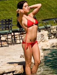 Tess Taylor Arlington red bikini 00