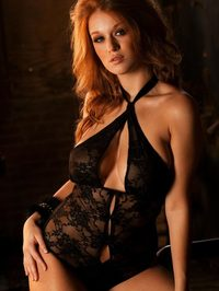 Leanna Decker In Black Lingerie 08