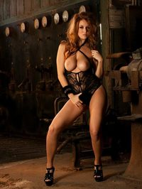 Leanna Decker In Black Lingerie 10