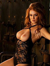 Leanna Decker In Black Lingerie 13