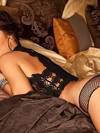 Arianny Celeste Sexy Black Lingerie 05