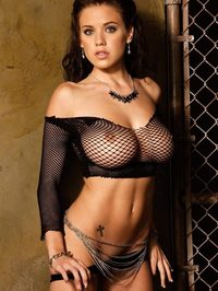 Tess Taylor Black Mesh Top 12