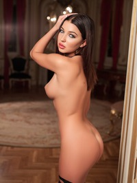 Milica In Black Lingerie And Stockings 08