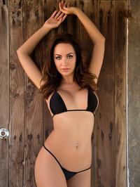 Busty Adrienn Levai In Skimpy Bikini 03