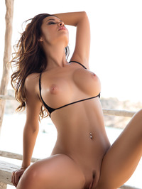 Busty Adrienn Levai In Skimpy Bikini 09
