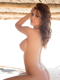 Busty Adrienn Levai In Skimpy Bikini 16