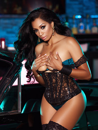 Karlie Redd Sexy Boots And Corset 04