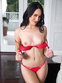 Lauren OConner In Sexy Red Bikini 02